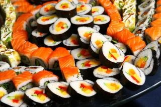 Japanese Sushi Rolls Wallpaper for Android, iPhone and iPad