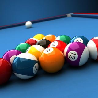 Billiard Pool Table - Obrázkek zdarma pro 208x208