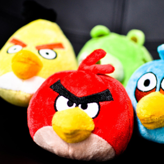 Plush Angry Birds - Obrázkek zdarma pro 208x208
