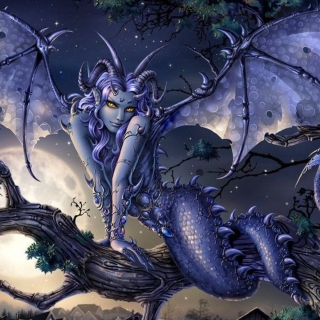 Vamp Devil Dragongirl - Obrázkek zdarma pro 1024x1024