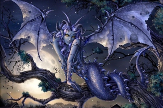 Vamp Devil Dragongirl - Obrázkek zdarma pro Android 320x480