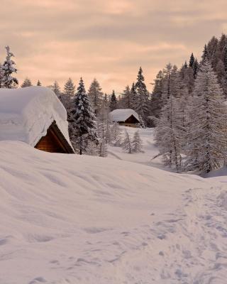 Snowfall in Village - Obrázkek zdarma pro Nokia X2