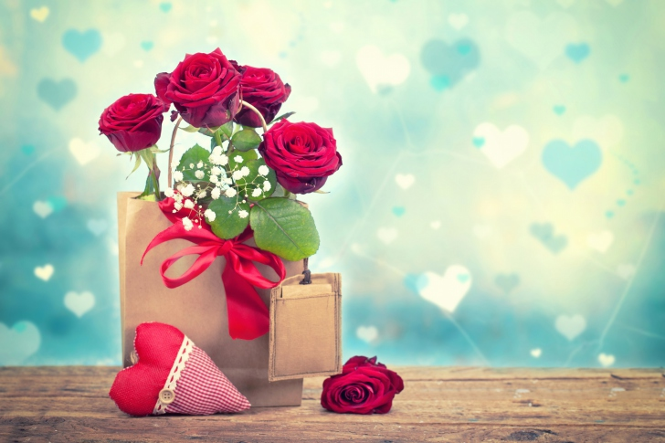 Send Valentines Day Roses wallpaper