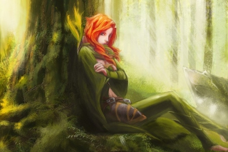 Forest Girl Background for Android, iPhone and iPad