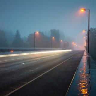 Road in Fog - Obrázkek zdarma pro 128x128