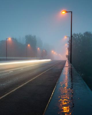 Road in Fog - Obrázkek zdarma pro iPhone 4S