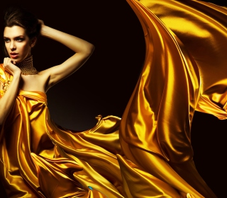 Golden Lady - Obrázkek zdarma pro iPad
