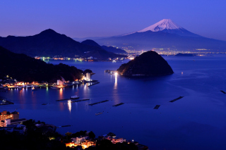 Night Fuji Wallpaper for Android, iPhone and iPad