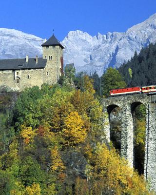Austrian Castle and Train - Obrázkek zdarma pro Nokia X7
