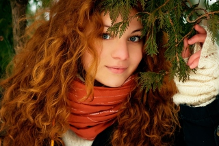 Pretty Redhead Wallpaper for Android, iPhone and iPad