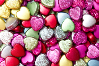 Heart shaped Pebbles Wallpaper for Android, iPhone and iPad