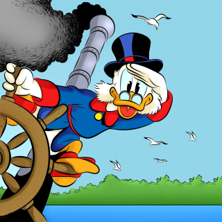 DuckTales, richest duck Scrooge McDuck - Obrázkek zdarma pro iPad Air
