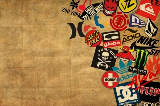 Skateboard Logos Background for Android, iPhone and iPad
