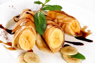 Sweet banana dish Picture for Android, iPhone and iPad