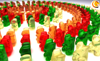 Gummy Bears Background for Android, iPhone and iPad
