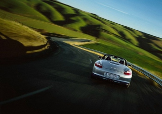 Porsche Boxter Highway Background for Android, iPhone and iPad