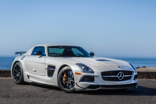 Mercedes Benz SLS AMG Black Series Background for Android, iPhone and iPad