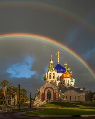 The Church of St. Igor of Chernigov in Peredelkino - Obrázkek zdarma pro iPhone 4S