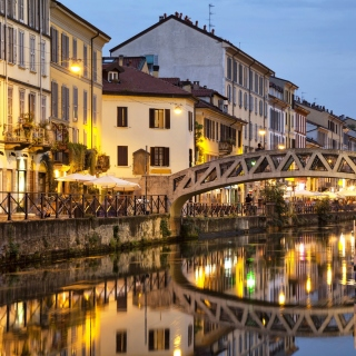 Milan Canal Navigli District - Obrázkek zdarma pro 208x208