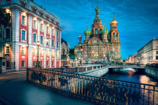 Church Of Savior On Spilled Blood In St. Petersburg Background for Android, iPhone and iPad