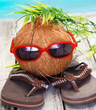 Funny Coconut - Obrázkek zdarma pro iPhone 4