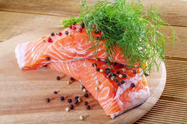 Salmon Dish wallpaper