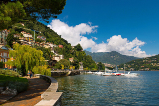 Bellagio Lake Como Promenade Wallpaper for Android, iPhone and iPad
