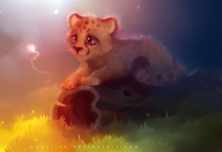 Cute Cheetah Painting - Obrázkek zdarma pro Widescreen Desktop PC 1920x1080 Full HD