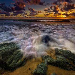 Seashore with big stones UHD - Obrázkek zdarma pro iPad