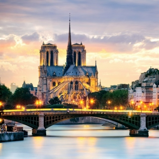 Notre Dame de Paris Catholic Cathedral - Obrázkek zdarma pro iPad