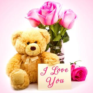 Valentines Day, Teddy Bear - Obrázkek zdarma pro iPad Air