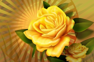Free Two yellow flowers Picture for Android, iPhone and iPad