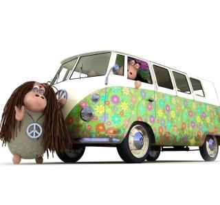 Hippies Sheeps - Obrázkek zdarma pro 208x208