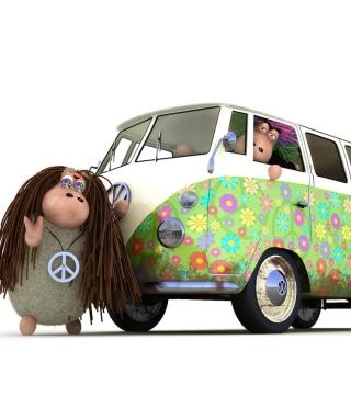 Hippies Sheeps - Obrázkek zdarma pro 320x480