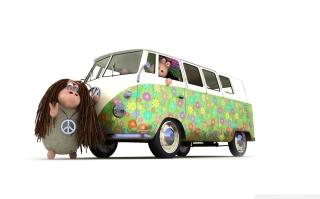 Hippies Sheeps - Obrázkek zdarma pro 800x480