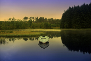 White Boat Wallpaper for Android, iPhone and iPad