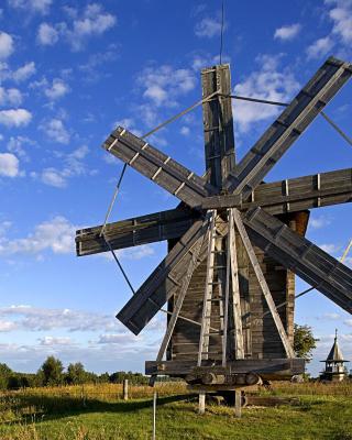 Kizhi Island with wooden Windmill - Obrázkek zdarma pro iPhone 6 Plus