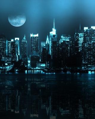 City In Moonlight - Obrázkek zdarma pro Nokia Asha 311