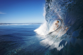 Female Surfer Background for Android, iPhone and iPad