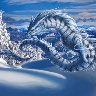 Winter Dragon - Obrázkek zdarma pro 128x128