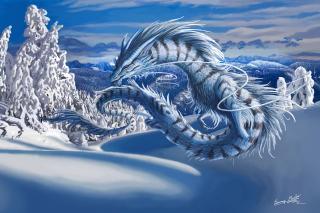 Winter Dragon - Obrázkek zdarma pro 800x480