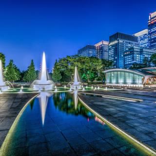 Wadakura Fountain Park in Tokyo - Obrázkek zdarma pro 320x320