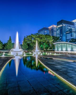 Wadakura Fountain Park in Tokyo - Obrázkek zdarma pro Nokia Asha 308