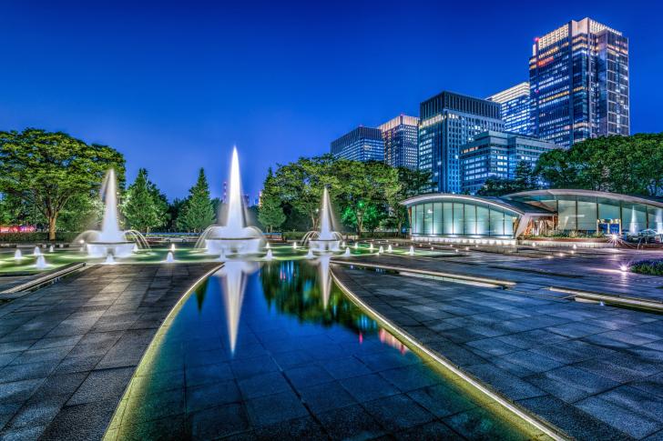 Fondo de pantalla Wadakura Fountain Park in Tokyo