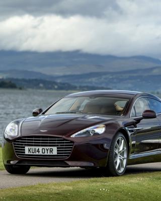 Aston Martin Rapide S on Coast - Obrázkek zdarma pro 320x480