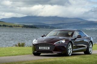 Aston Martin Rapide S on Coast - Obrázkek zdarma pro LG P500 Optimus One