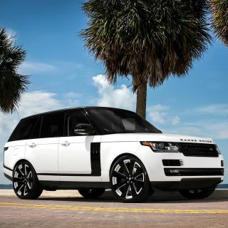 Range Rover White - Obrázkek zdarma pro iPad mini