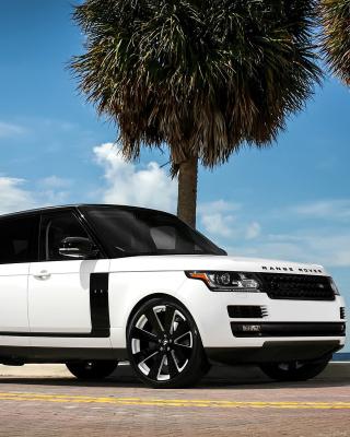 Range Rover White - Obrázkek zdarma pro Nokia Asha 306