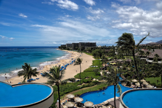 Hawaii Boutique Luxury Hotel with Spa and Pool - Obrázkek zdarma pro Samsung I9080 Galaxy Grand