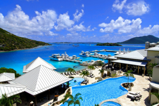Caribbean, Scrub Island of the British Virgin Islands Background for Android, iPhone and iPad